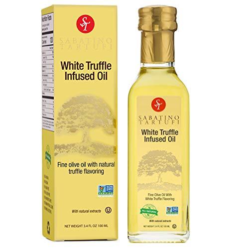 Sabatino Tartufi White Truffle Infused Olive Oil - All Natural, Made From White Truffles, Vegan, Vegetarian, Kosher, Non-Gmo Project Verified, 3.4oz