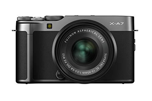 Fujifilm Fujifilm X-A7 KIT XC15-45MmF3.5-5.6 OIS PZ, Fotocamera Mirrorless Csc In Kit Con Obiettivo, Argento Scuro