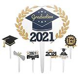 PRETYZOOM 12021 - Tarjetas de graduación para decoración de tartas (acrílico)