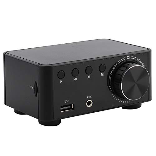 Amplificador de áudio, garantia de qualidade do player de cartão de memória Digital sem ruído auditivo 30W X 2 e 4 ohms para AMP(Preto)