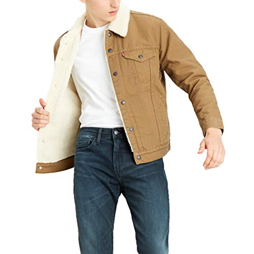 Levi's Men's Type Iii Sherpa Jacket, Cougar Canvas, Medium