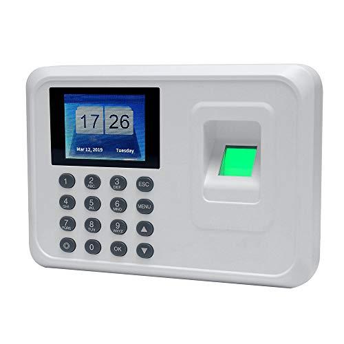 SISHUINIANHUA A5 2.4in Sistema de Asistencia biométrica de Huellas Dactilares Sistema de Reloj de Reloj Grabadora de Reloj TFT TFT Dispositivo de grabación Máquina electrónica,Gris