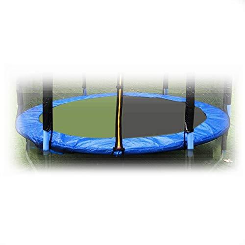 Acolchado De Trampolín De PE De 8 Pies, Acolchado De Trampolín De Engrosamiento De Tres Capas, Resistente A Los Rayos UV, Resistente Al Desgarro, Cubierta De Resorte, Protección De Borde, Azul