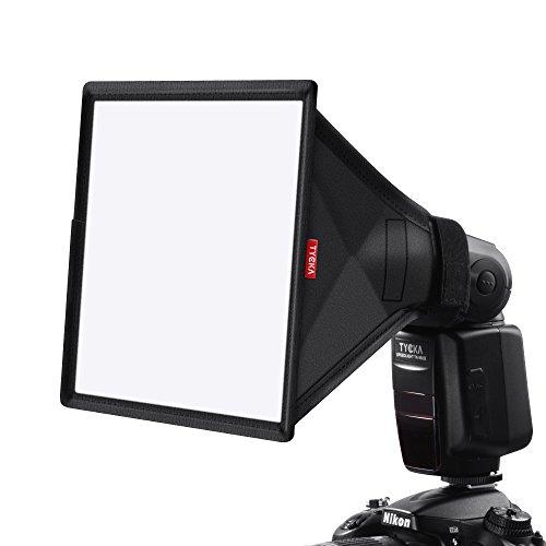 TYCKA 23 x 18cm Flash Softbox Diffusore (universale, pieghevole) per Nikon, Canon, Sony, Yongnuo e altri flash DSLR