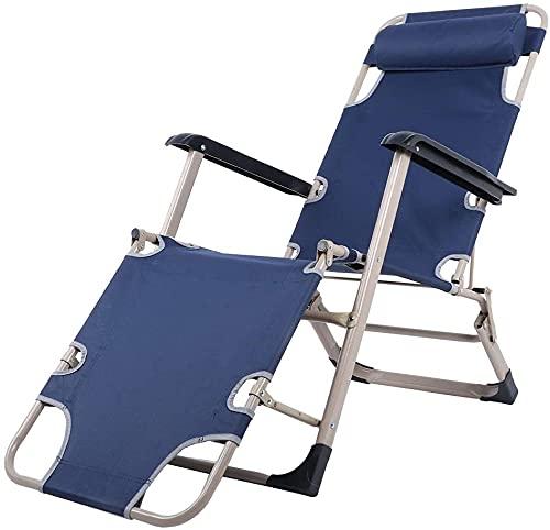 Reclinación reclinación plegable sillón sillón sillón cero gravedad reclinable silla, reclinable plegable multifuncional silla de playa cama de playa cama para piscina exterior jardín jardín patio cam