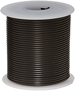 "Remington Industries 22UL1007STRBLA UL1007 22 AWG Gauge Stranded Hook-Up Wire, 300V, 0.0253"" Diameter, 100' Length, Black"