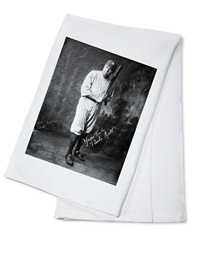 Babe Ruth in Yankee Uniform Full Portrait - Vintage Photograph (100% Cotton Kitchen Towel)