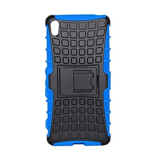 Lapinette Funda Compatible con Sony Xperia L1 Antigolpes - Carcasa Xperia L1 Protección Antigolpes - Funda Sony Xperia L1 Antigolpes Rígida Modelo Spider Azul