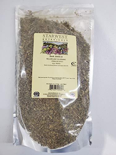 Starwest Botanicals Organic Mullein Leaf Cut & Sifted, 4 Ounces