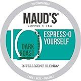 Maud's Espresso Coffee (Espress-O Yourself), 100ct Recyclable Single Serve Dark Roast Espresso Coffee Pods – 100% Arabica Coffee California Roasted, Espresso KCups Compatible