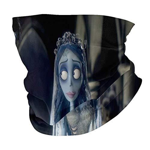 Lsjuee T-im Burton 's C-orpse Bride Variedad Toalla de cara Pañuelo para la cara Pañuelos Antipolvo Polaina para el cuello Bufanda elástica para la cara Pañuelo multifuncional para deportes al aire