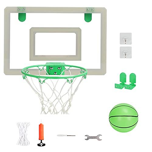 Mini Basketballkorb Erwachsene,Tür/Wand Basketballständer Sport Spielzeug,Wandmontage Tragbar Basketball Backboard Set Für Outdoor Indoor,Leuchtender Basketballkorb,Metallkorb,Usw,45.5 * 29.5cm