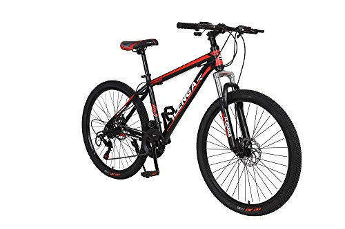 Hurricane 26' Alloy Frame Lightweight Mountain Bike Adults Bicycle Black/Red