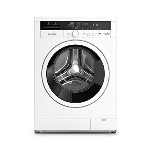 Grundig Edition 75 Waschtrockner/Trommelgehäuse aus recycelten PET-Flaschen/Dampffunktion/Nachlegefunktion/WaterProtect+/ 8 kg Waschen, 5 kg Trocknen