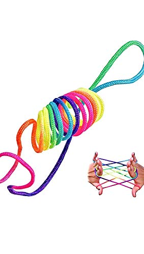 puissant Rainbow Rope Game Finger Play Rope Filament Ztringz