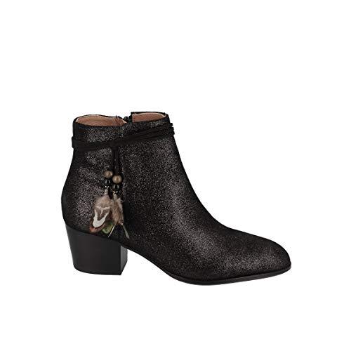 Boots avec Plumes à La La Cheville Story Boots Suede Metallic