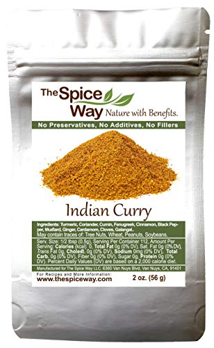 The Spice Way Indian Curry powder - authentic seasoning, not spicy and salt free, No preservatives, no fillers 2 oz …