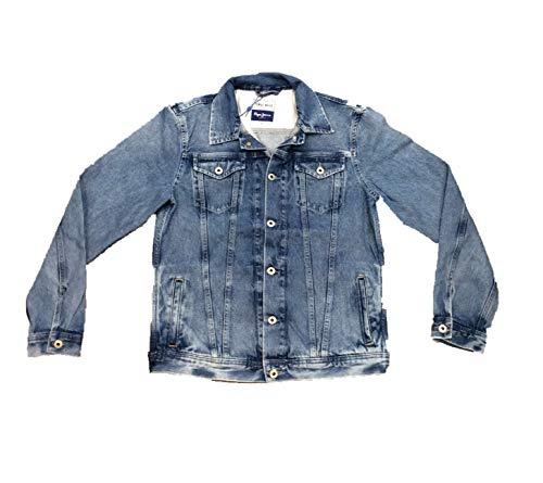 Pepe Jeans Belife Jacket Chaqueta vaquera, Azul (Denim 000), Large para Hombre