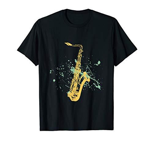 Saxophone Jazz On T-Shirt