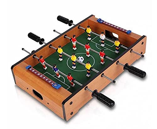 NiceLife Minijuego de futbolín de mesa, 12 mesita de futbolín, tamaño XL, diversión perfecta para 2-4 personas