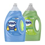 Dawn Dish Soap + Antibacterial Hand Soap, Includes 1 Dish Soap Refill Original Scent, 1 Hand Soap Refill Apple Blossom Scent, 56 oz each (Packaging May Vary)