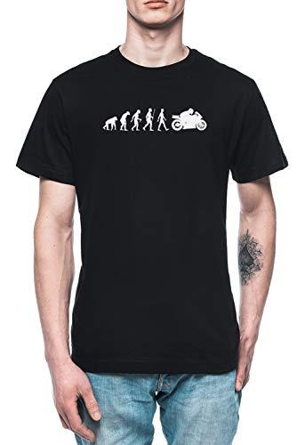 Evolución De Moto Hombre Camiseta tee Negro Men's Black T-Shirt