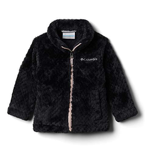 Columbia Baby Little Girls' Fire Side Sherpa Full Zip, Black, X-Small