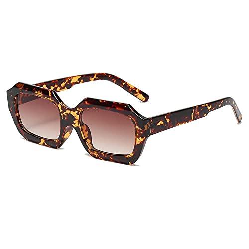 MU-PPX Gafas De Sol para Mujer Gafas De Sol Cuadradas Retro Color Caramelo Gafas De Sol Polarizadas con Protección Uv400 Vintage Shades para Mujer