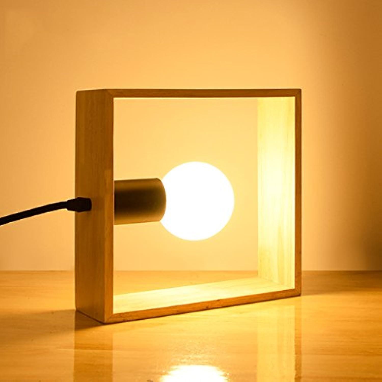 Ywyun LED Energiesparlampe, moderne Leuchten warmer Holzplatz Studie Schlafzimmer Lichter leben, 20  20cm