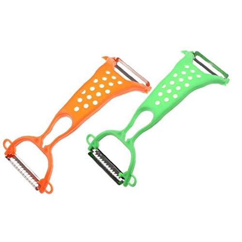 CULER Herramientas Verduras Dobles pelador de Patatas Zanahoria rallador de la máquina de Cortar del Cortador de Cocina Shredder peladora de Color al Azar
