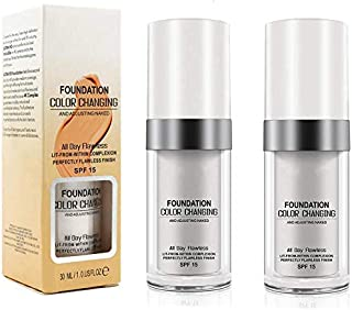 Concealer Cover, (2pack) Flawless Colour Changing Foundation
