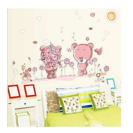 TTBH Lovely Cute Bear Wall Stickers Children Room Home Decor Baby Shower Adhesive for Kids Room