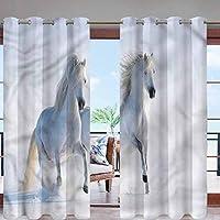 ✿ Taille : deux (2) panneaux de rideaux, chacun mesurant 122 x 213,4 cm. ✿ Bonne performance : vous offre l'avantage d'isolation thermique, de prévention de la chaleur d'été et du froid hivernal, réduction du bruit. ✿ Matériau polyester : imperméable...
