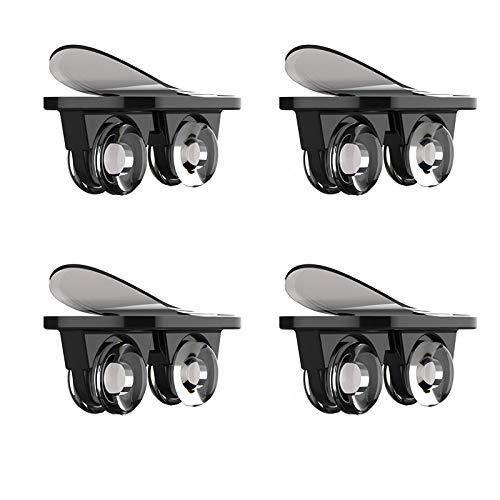 CareMont Caja de Almacenamiento Autoadhesiva con Ruedas Direccionales con Ruedas Adhesivas de 4 Piezas Polea Mueble Universal Rueda para Mover - Negro