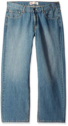 Levi's Boys' Big 550 Relaxed Fit Jeans, Clean Crosshatch, 12 Husky