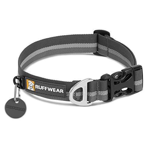 RUFFWEAR - Crag Dog Collar, Twilight Gray, 11-14