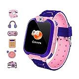 Winnes Reloj Inteligente para Niños Niña La Musica y 7 Juegos Smart Watch Phone 2 Vías Llamada Despertador de Cámara para Reloj Niño y Niña 3-12 años