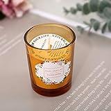 MXZBH Vaso perfumado de Cera de Soja sin Humo, Vela de Ayuda para Dormir con Aceite Esencial perfumado, San Valentín, cumpleaños, Boda, (Paquete de 2)(Color:b)