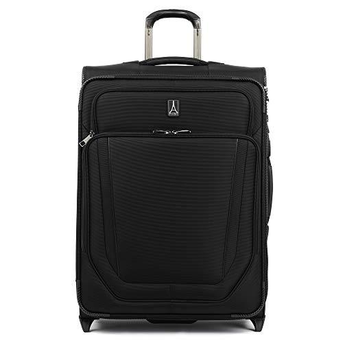 Travelpro Crew Versapack-Softside Expandable Upright Luggage, Jet Black, Checked-Medium 26-Inch