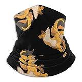 Patrón de Zorro Invierno Calentador de Cuello Polaina/pasamontañas esquí Cara Cubierta Cuello Polaina Tubo, Calentador de Orejas Diadema Sombreros Sombreros