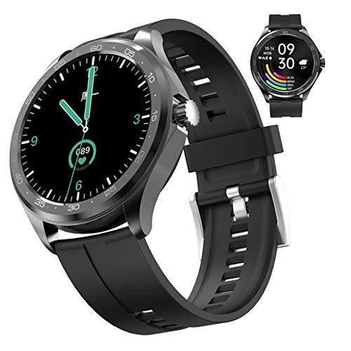Reloj Inteligente Para Mujer Y Hombre Smartwatch Android Ios Con Llamada Bluetooth Monitor De Frecuencia Cardíaca Presión Arterial Oxígeno En Sangre Sueño Control de música, Fitness Tracker ,Negro