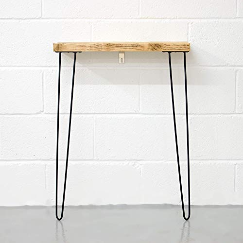 Narrow Console Table With Hairpin Legs | Wooden Rustic Hallway Table