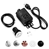 Sink Top Garbage Disposal Air Switch Kit, Disposer Button with Aluminum Alloy Power Module (SHORT...