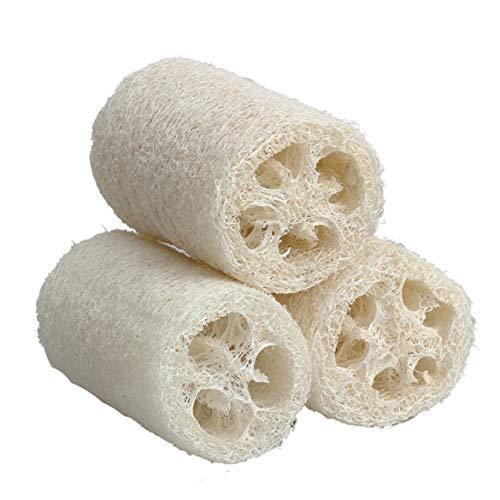 Sevenplusone keukenapparatuur badkamer lichaam douche spons wassen natuur Luffa Luffa wash handdoek badkamer massage lichaam spons wasmachine (10cm wit Small Size), product: Badborstel/Massageborstel