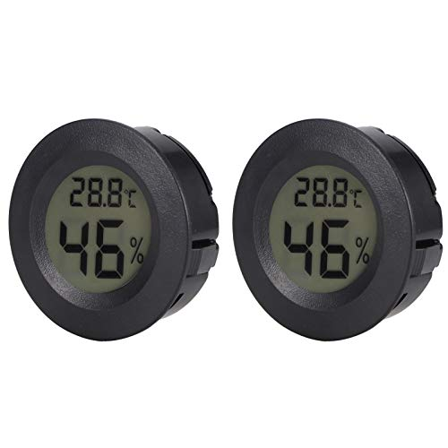 Folany Misuratore di Temperatura dell'umidità, Mini igrometro termometro LCD termometro igrometro per Ufficio a casa, Auto, scuole, Hotel