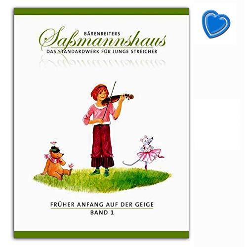 Früher Anfang auf der Geige Band 1 - Eine Violinschule für Kinder ab 4 Jahren - Bärenreiters Saßmannshaus - das Standardwerk für junge Streicher - BA9671 9790006536450