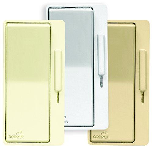 EATON Dal06P-C1-K Preset Dimmer Switch, 120 Vac, 300 W, 1 P, 3 Way, Almond//Ivory, Multi