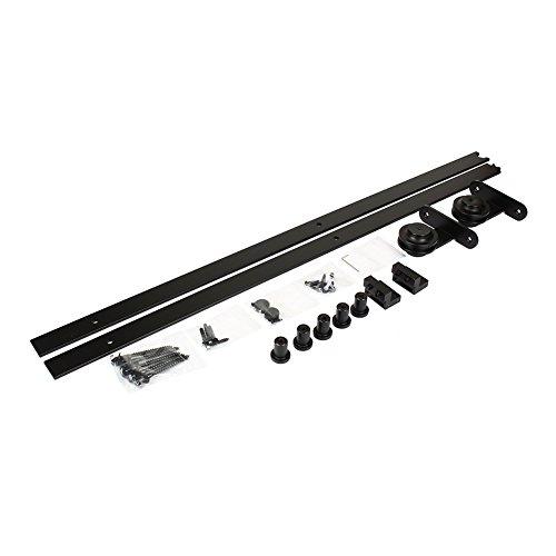 Zoternen 6.6FT 200cm Herraje para Puerta Corredera Riel Rueda para Puertas de Madera Granero Puerta Hardware Kit