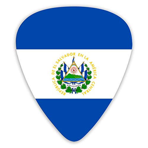 pengyong Guitar Picks 2000px-Flag_of_El_Salvador.SVG 12 Ukulele Picks,Including 0.46 mm, 0.71 mm, 0.96 mm Acoustic Guitar