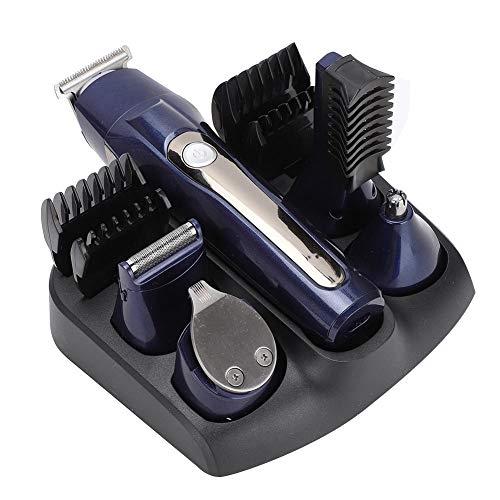 Tagliacapelli professionale 5 in 1, kit rifilatore per barba ricaricabile a basso rumore senza fili per naso, orecchie, viso, capelli(Unione Europea)